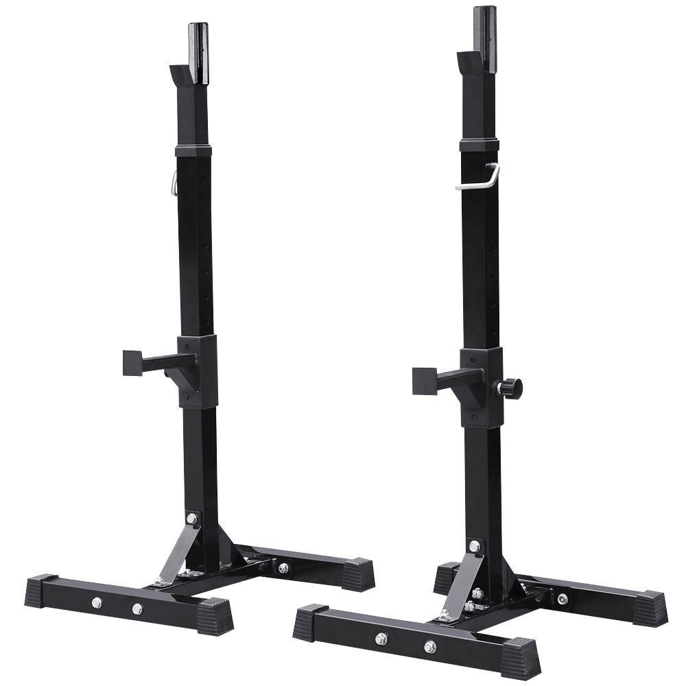 Yaheetech Adjustable Squat Stand Rack Solid Steel Barbell Rack Press Gym Workout