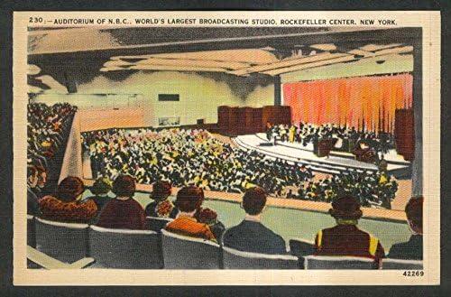 Amazon Com Auditorium Studio Nbc Rockefeller Center Ny Postcard 1930s Entertainment Collectibles
