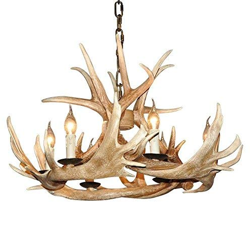 (EFFORTINC Antlers vintage Style resin 6 light)
