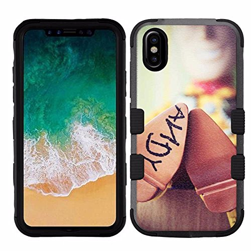 iPhone X (Ten/10) Case, Hard+Rubber Dual Layer Hybrid Heavy-Duty Rugged Armor Cover Case - Toy Story #Andy Shoes