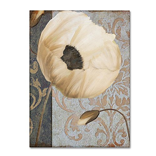 (Poppy Brocade I by Color Bakery, 35x47-Inch Canvas Wall Art)