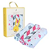 Muslin Swaddle Blanket, 3 Pack Muslin Cotton Baby Blanket, Swaddle Blankets For Boy or Girl Large 47'' By 47'', Infant Newborn Blankets, Baby Shower Gift Box By Kadut Kids