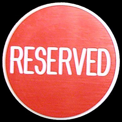 Casino Quality Reserved Poker Button