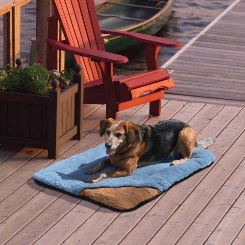 Kurgo Wander Bed, Traveling Dog Bed, Blue, Large, My Pet Supplies
