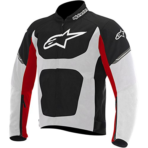 Alpinestars T-Viper Air Men's Street Motorcycle Jackets - Black/White/Red / Large (Mens Street Motorcycle Jackets)