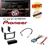 Car Radio Stereo CD Player Dash Install Mounting Trim Bezel Panel Kit + Harness W/ Pioneer FH-X720BT 2-DIN CD Receiver with Mixtrax and Bluetooth