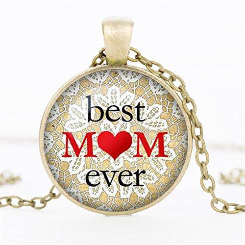 Bronze English Pendant - fashion english custom glass necklace pendant chain gemstones time (bronze
