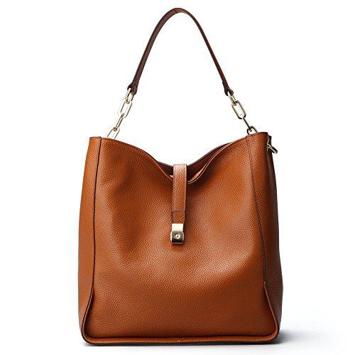 bandoulière Sacs femmes cuir souple sac sac les seau à sac Hobo véritable main soirée 8888red à de pour 8888Brown en sacs v0OrvWF