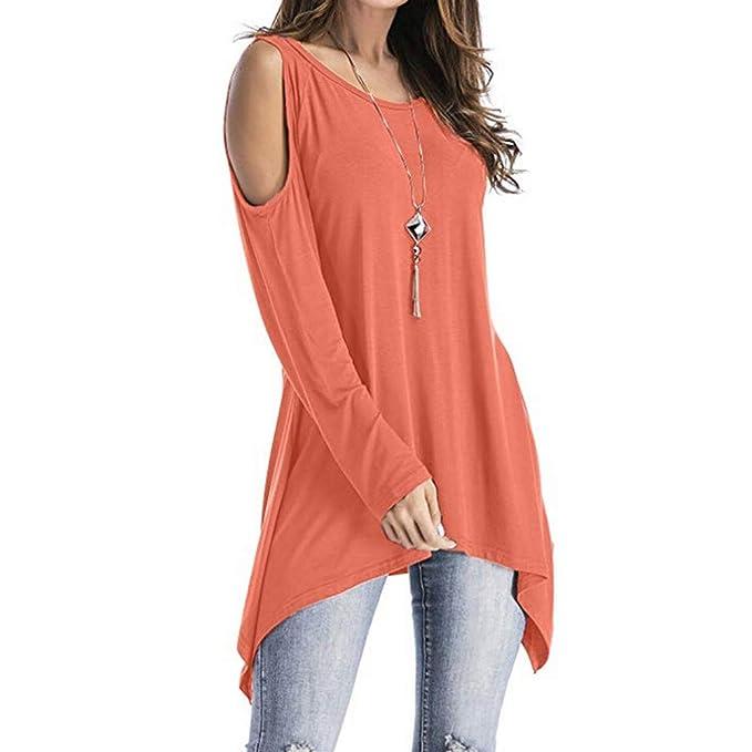 ... Amlaiworld Moda Tops de túnica oscilante de Manga Larga de Hombro frío para Mujer Camisa de Vestir Camisetas y Tops niña: Amazon.es: Ropa y accesorios