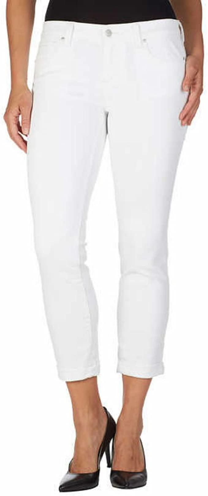 Jessica Simpson Ladies/' Relaxed Skinny Roll Crop Jeans Select Size WHITE