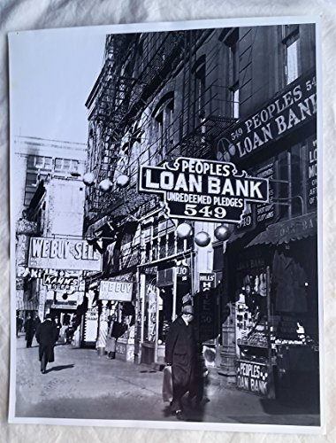 - Peoples Loan Bank Street Shot Chicago Sun Times Vintage 11 x 14 inches Photograph