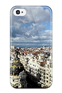 Iphone 4/4s Hard Back With Bumper Silicone Gel Tpu Case Cover Madrid City