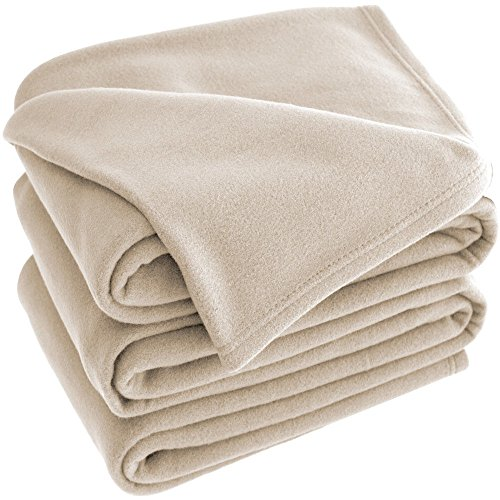 Polar Fleece Premium Ultra Soft Hypoallergenic Cozy Lightweight (Polar Oysters)