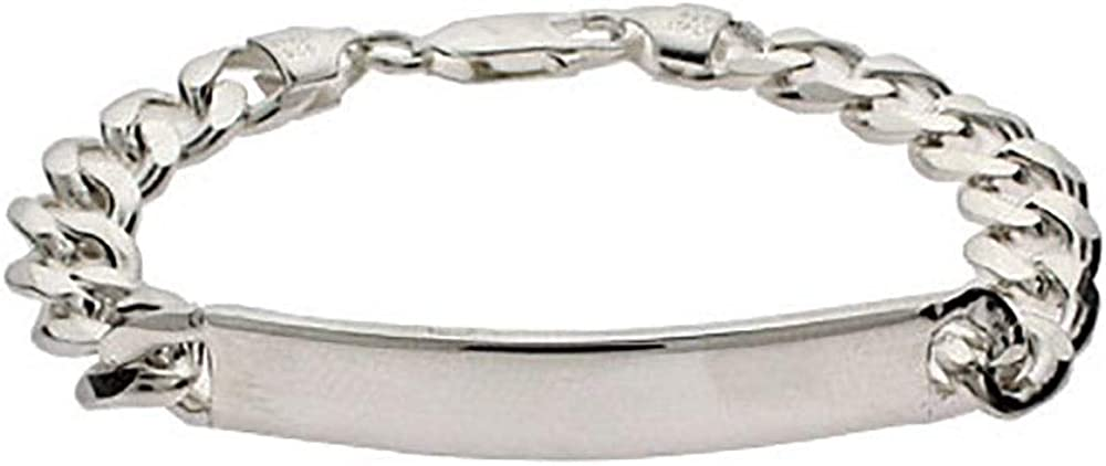 Ladies Sterling Silver Curb...