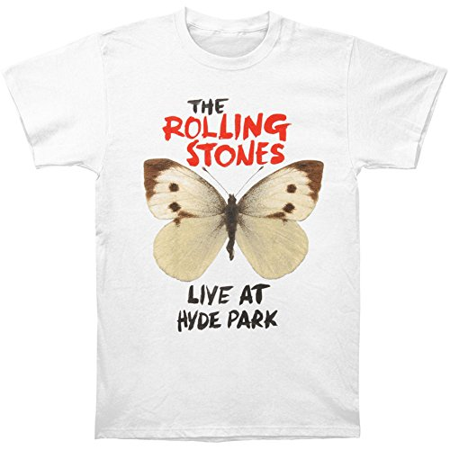 Rolling Stones Men's Butterfly Hyde Park T-shirt Medium White