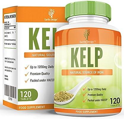 Kelp - Alga Kelp 600mg - Gran Fuente de Yodo - Rica en Vitaminas y ...