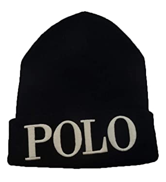 Ralph Lauren Polo Women s Polo Embroidered Beanie Hat (Black) at ... ecd644e3fbf