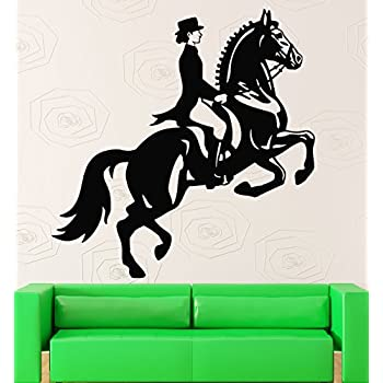 Wall Stickers Horse Rider Horse Show Jumping Equestrian Sport Vinyl Decal (ig193)