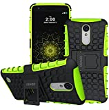 For LG Aristo Case, LG Phoenix 3 Case, LG Fortune Case, LG Risio 2 Case, LG Rebel 2 LTE Case, LG K8 2017 Case, OEAGO Tough Rugged Dual Layer Protective Case with Kickstand (Green)