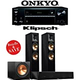 Klipsch RP-280F 3.1-Ch Reference Premiere Home Theater System (Piano Black) with Onkyo TX-NR676 7.2-Ch 4K Network AV Receiver
