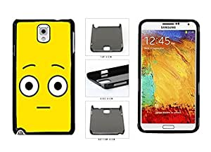 Bright Yellow Shocked Smiley Face Plastic Phone Case Back Cover Samsung Galaxy Note III 3 N9002 by supermalls