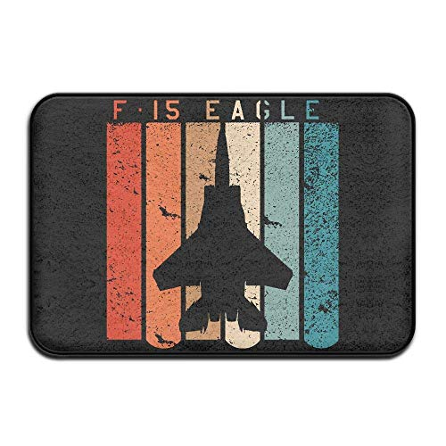TOGEFRIEND Inside & Outside Door Mats F-15 Eagle Jet Fighter Design Pattern for Hallway