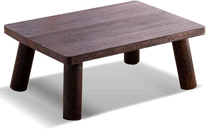 Funlea Japanische Vintage Massivholz Couchtisch Hocker Stuhl Wasserdicht Platz Sofa Hocker Ottomane Antike Fußstütze Hocker Erwachsene Niedrigen Tisch