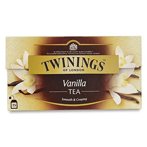 Twinings Vanilla Tea (International Blend) 50g - 25 Envelopes (Pack of 6)