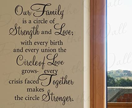 Amazon Our Family Is A Circle Of Strength And Love Home Vinyl