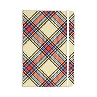 "KESS InHouse Everything Notebook, Journal by KESS Original ""Sunday Brunch Plaid"", Tartan (KIH160ANP01)"