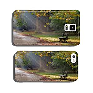 Path in the autumn park. Autumn Landscape. cell phone cover case Samsung S6
