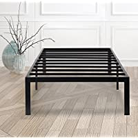 SLEEPLACE SVC14BF04F 14 Inch Dura Metal Steel Slate Bed Frame, Full