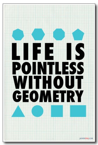 Life Is Pointless Without Geometry - NEW Geometry Classroom Math Poster