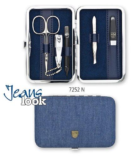 Drei Schwerter   Exklusives 5-teiliges Maniküre - Pediküre - Nagelpflege-Set / Etui   Qualität - Made in Solingen (725202)