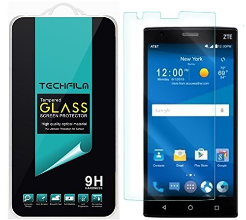 TechFilm- ZTE Zmax 2 / Z958 Tempered Glass Screen Protector, Premium Ballistic Glass Round Edge [0.3mm] Ultra-Clear Anti-Scratch, Anti-Fingerprint, Bubble Free- Retail Packaging