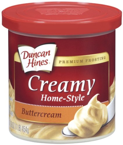 Duncan Hines Creamy Home-Style Frosting, Buttercream, 16 Ounce (Pack of 8)
