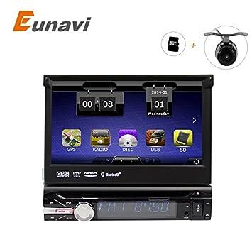 "eunavi 7 ""universal 1 DIN Radio de coche reproductor de DVD + Radio +"