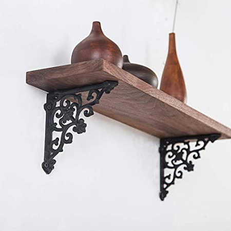 2 Staffa per Mensola Supporto Angolo di Parete Stile Antico