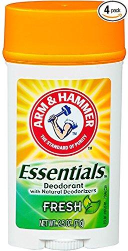 Arm & Hammer Essentials Deodorant, Fresh, 2.5 Oz/pack, 4 pack 626031