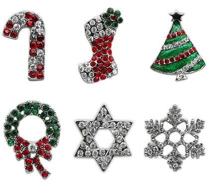 Holiday 10mm Slider Charms Red Stocking . Case Pack 24 Holiday 10mm Slider Ch... by DSD