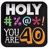 40 Holy Bleep 7'' Square Plates - 8 Per Unit