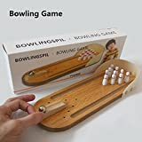 Mini Table Bowling Game, Desktop Bowling Game Toys for Kids and Adults Stress Relief