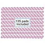 Welnove-Oval Corn Cushions 1.18'' Pads, 135 Count Self-Sticky Waterproof Callus Protection for Corn Callus Blister and Feet Sore