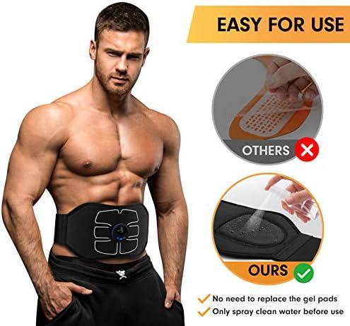MarCoolTrip MZ ABS Stimulator,Ab Machine,Abdominal Toning Belt Workout Portable Ab Stimulator Home Office Fitness Workout Equipment for Abdomen/Arm/Leg 4