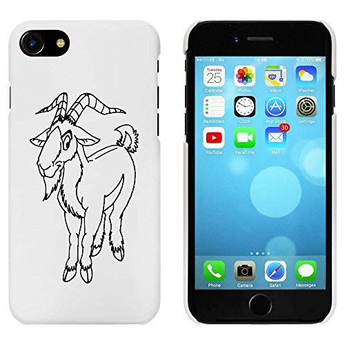 Blanc 'Chèvre Souriante' étui / housse pour iPhone 7 (MC00069400)
