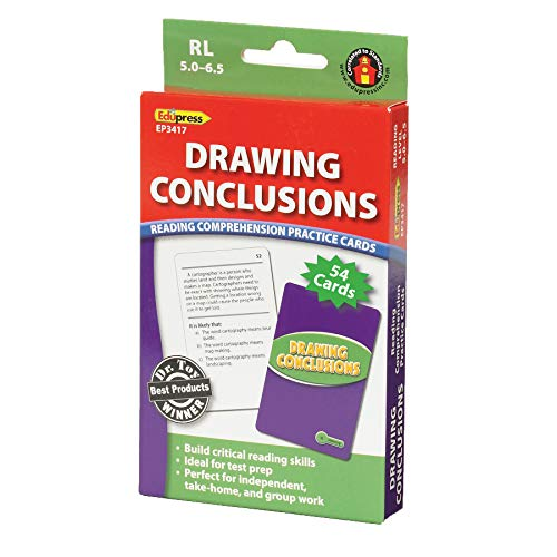 Edupress EP-3417 Drawing Conclusions Reading Comprehension Cards, Reading Level: 5.0 to 6.5, 0.75