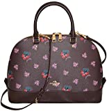 Coach Wild Flower Sierra Satchel Bag Handbag Oxblood Purse