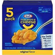 Kraft Macaroni & Cheese Dinner, Original, 7.25 oz, 5 Pack