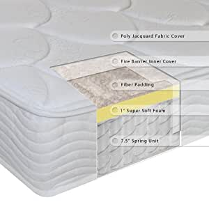 Sleep Master 8-Inch Tight Top Deluxe Individual Pocketed Spring Mattress, Queen