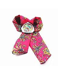 Fashion Ladies Fabric Band Flower Cloth Quartz Wrist Watch